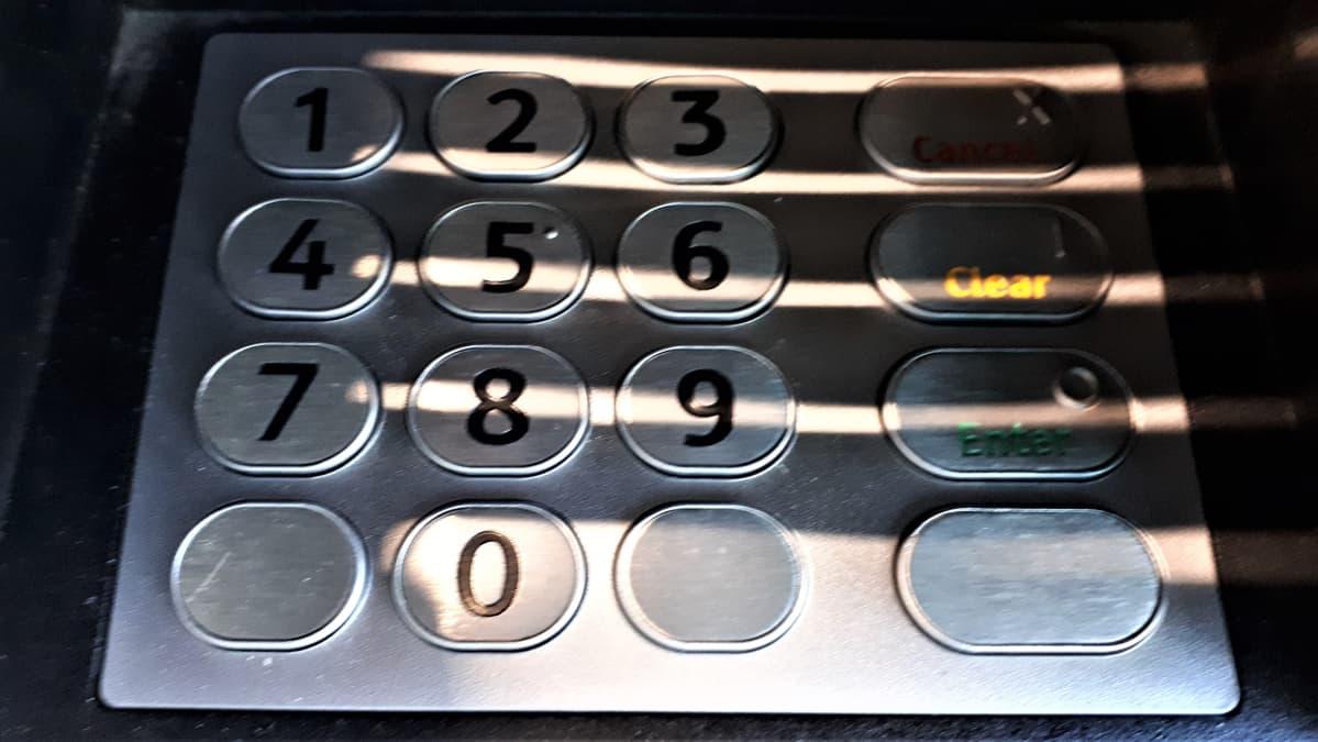 Nosto-automaatin näppäimet