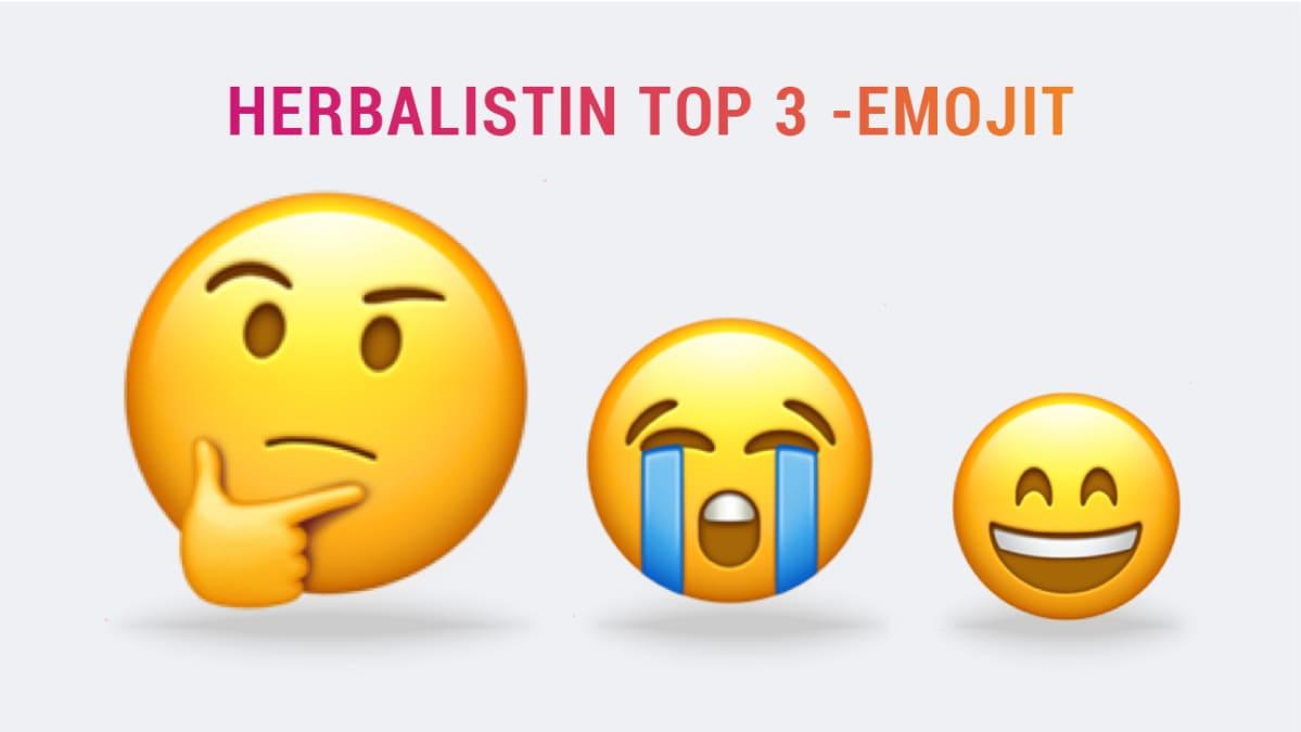 Herbalistin Top 3 -emojit.