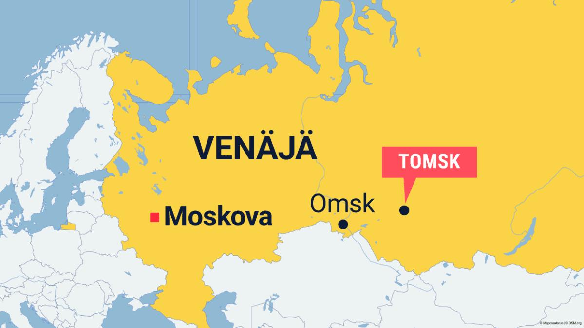 Tomsk Venäjän kartalla