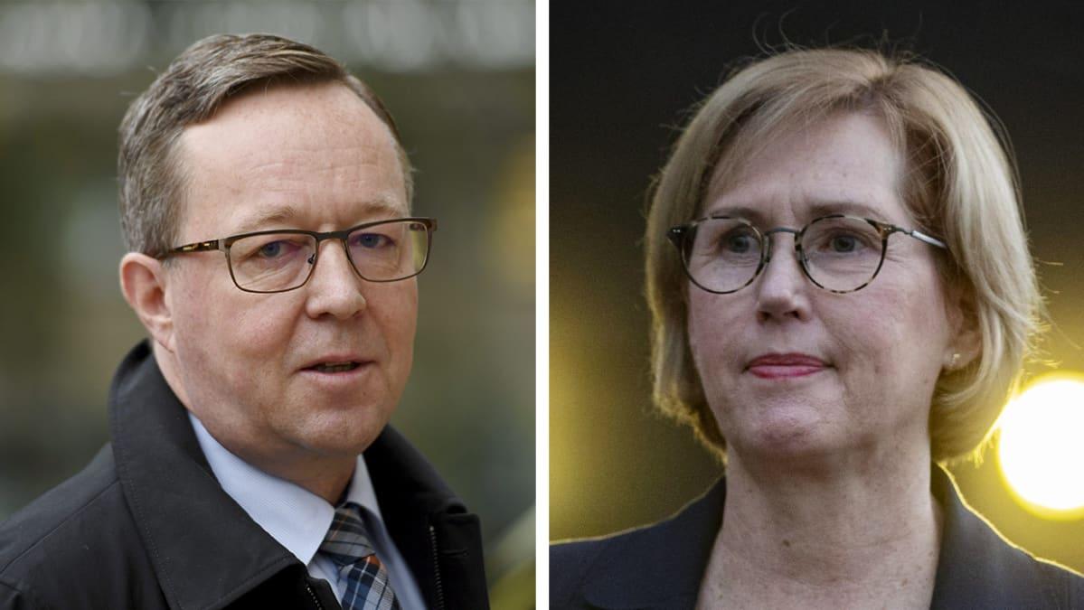 Elinkeinoministeri Mika Lintilä ja työministeri Tuula Haatainen.
