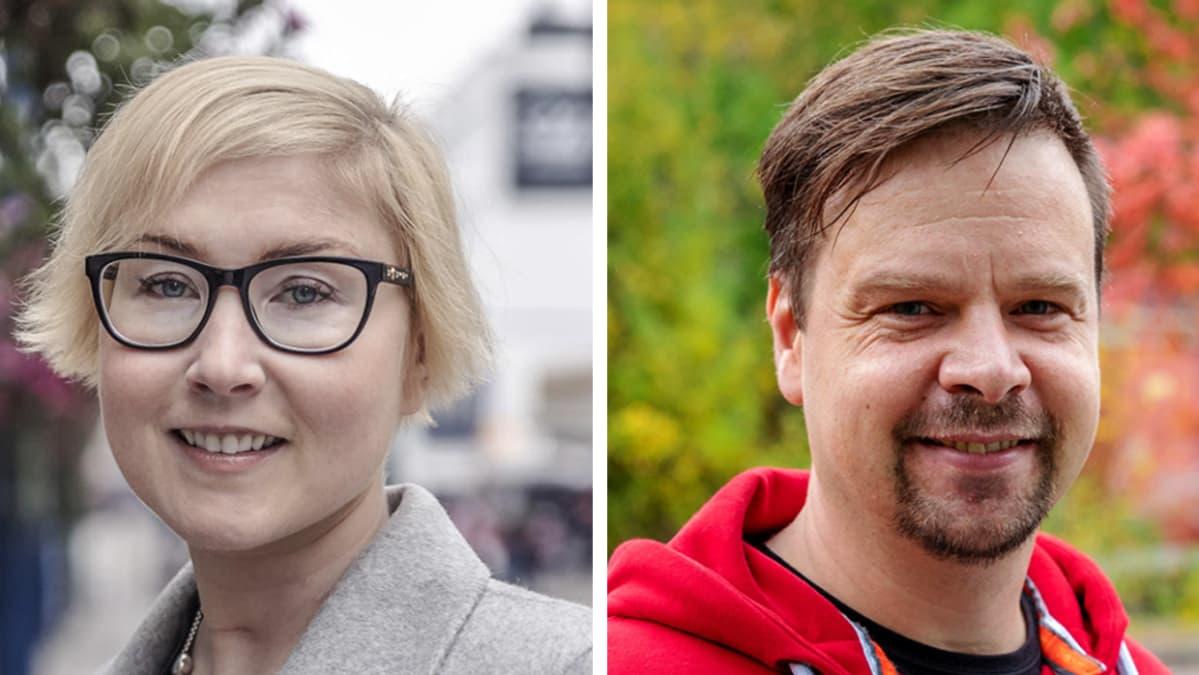 Kuvakombossa ovat Sari Klinga ja Juha Lemmetti.