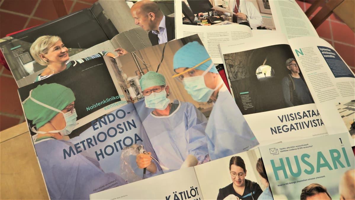 Sairaalavalokuvaajien kuvia käytetään potilastyön lisäksi HUSin viestinnässä esimerkiksi yhteisölehti Husarissa ja Instagramissa.