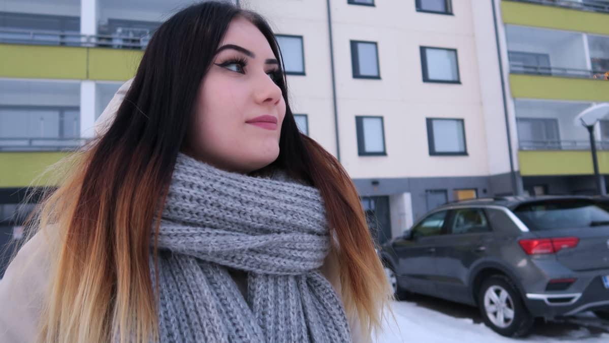 Katse tulevaisuuteen. Heidi Paatero muuttaa lähiaikoina Vantaalle ja samalla yhteen poikaystävänsä kanssa.