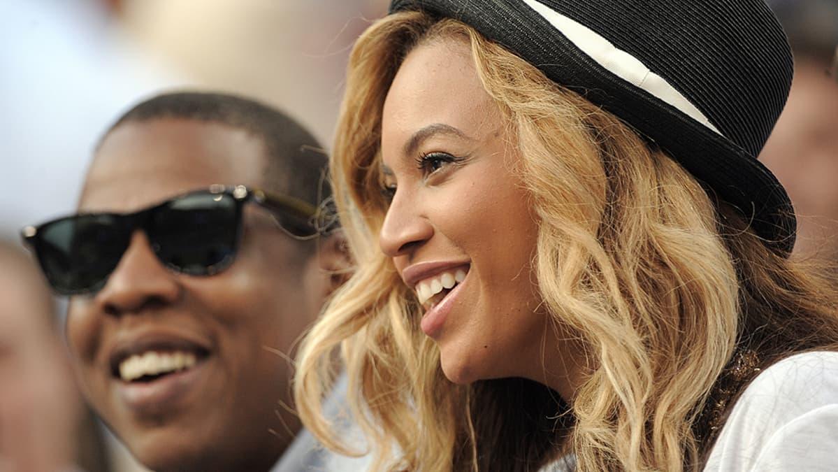 Beyoncé ja Jay-Z Yhdysvaltain avoimessa tennisturnauksessa syyskuussa 2011.