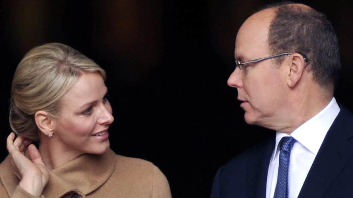 Monacon ruhtinaspari prinsessa Charlene ja Prinssi Albert II.