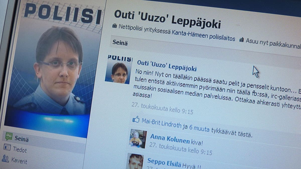 Outi Leppäjoen nettipoliisin Facebook-sivu