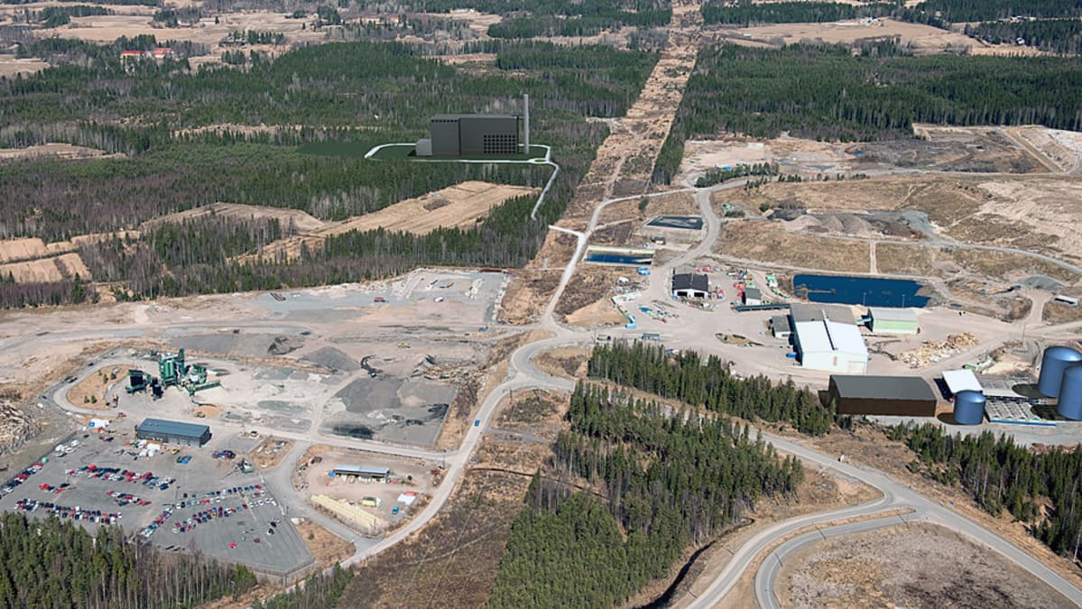 Havainnekuva Tampereen jätevoimalasta