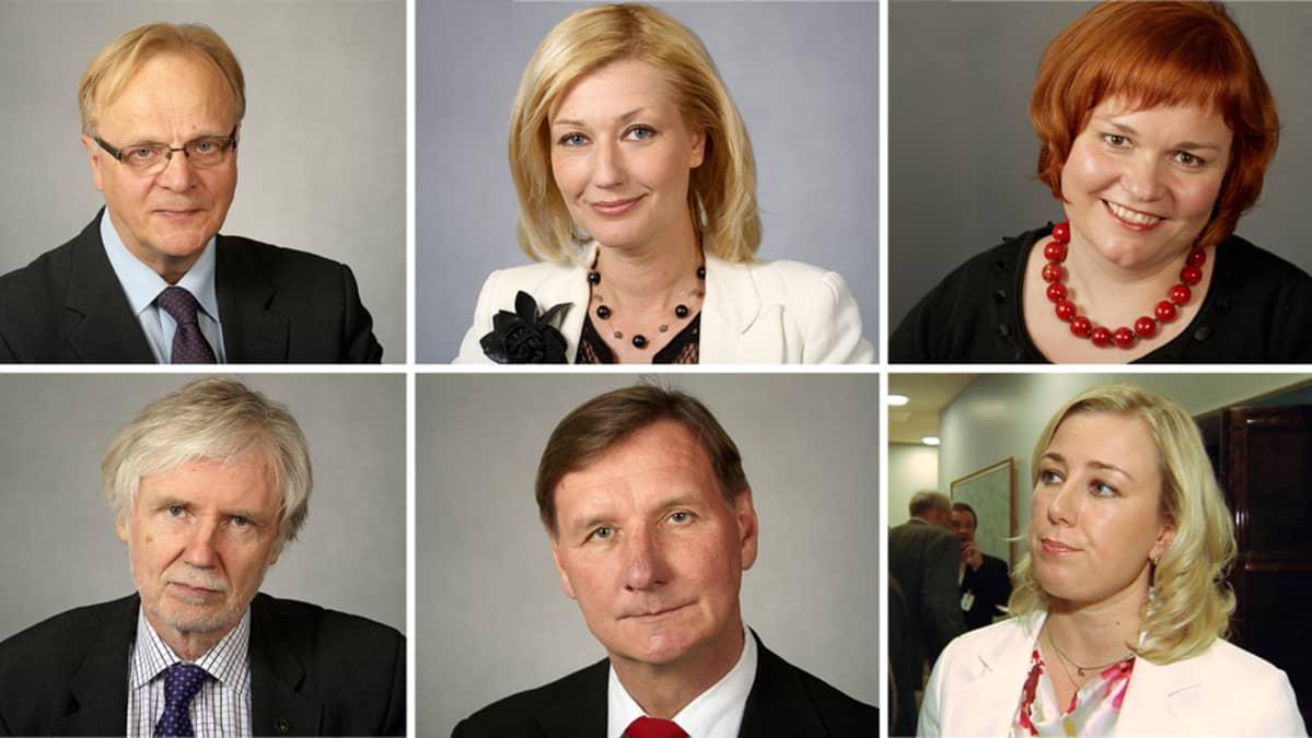 Lauri Ihalainen, Maria Guzenina-Richardson, Krista Kiuru, Erkki Tuomioja, Jukka Gustafsson ja Jutta Urpilainen.