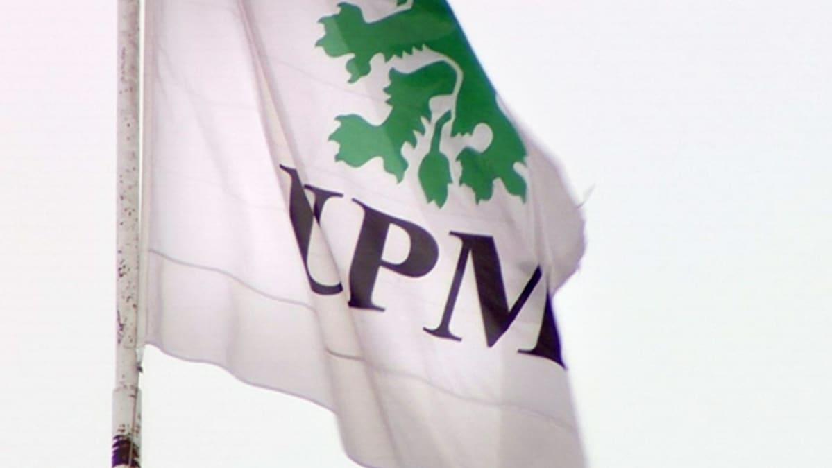 UPM:n logo lipussa.