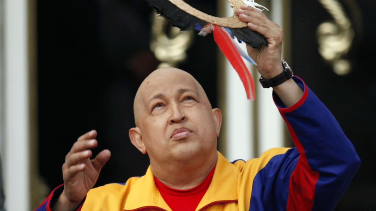 Venezuelan presidentti Hugo Chavez.