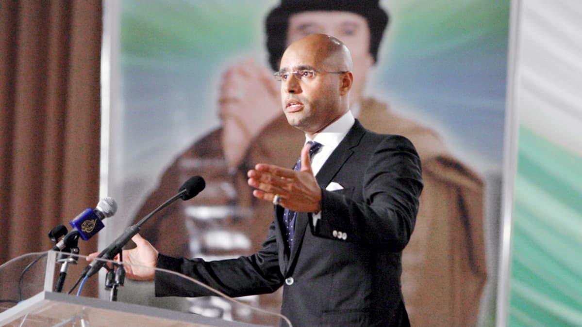 Saif al-Islam kuvattuna Tripolissa heinäkuussa 2008.
