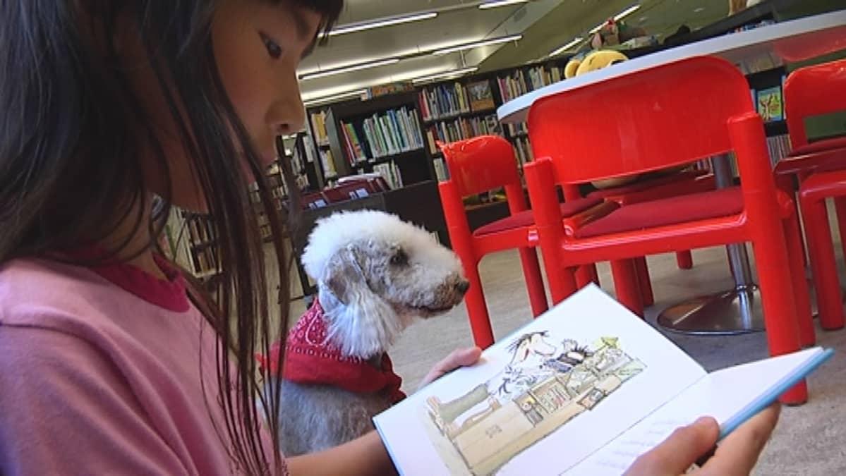 Lukukoira auttaa lukemaan