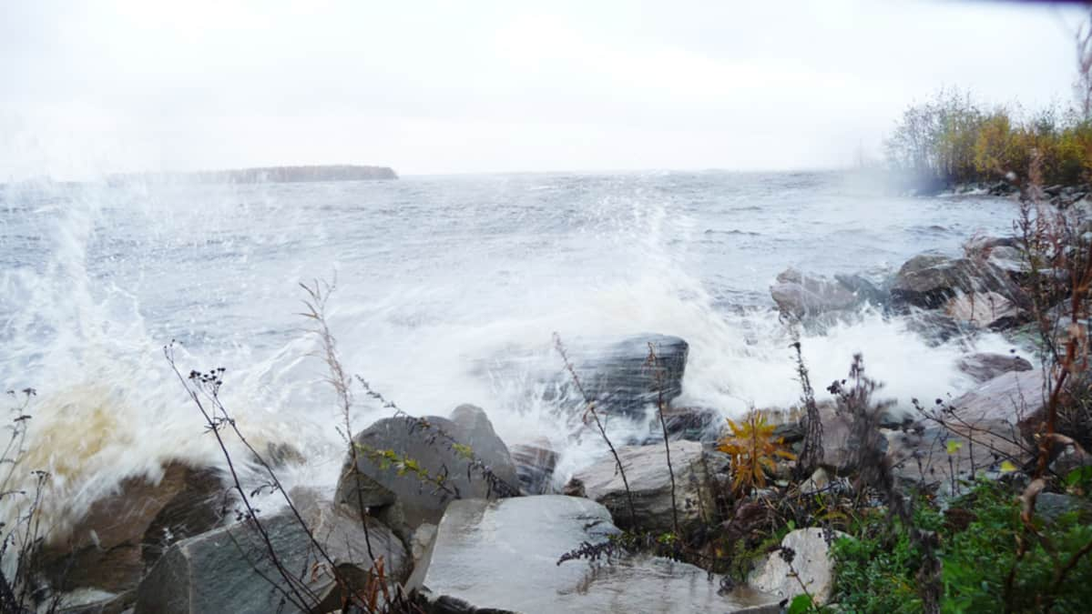 Stormy waves in October 2011