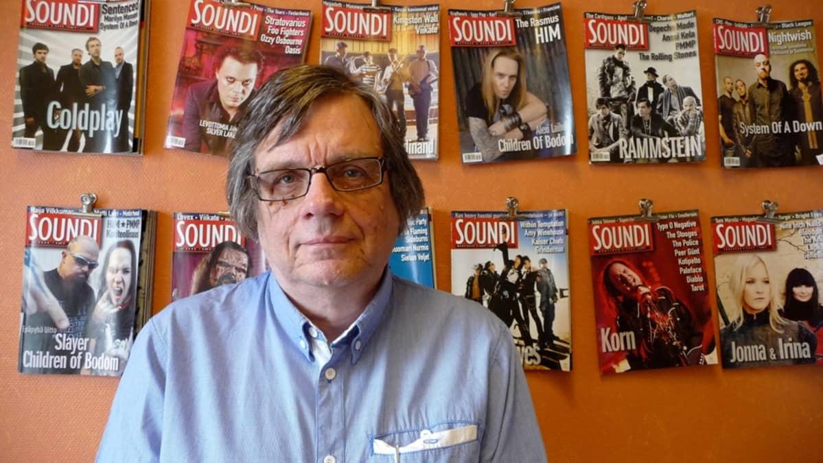 Soundin päätoimittaja Timo Kanerva