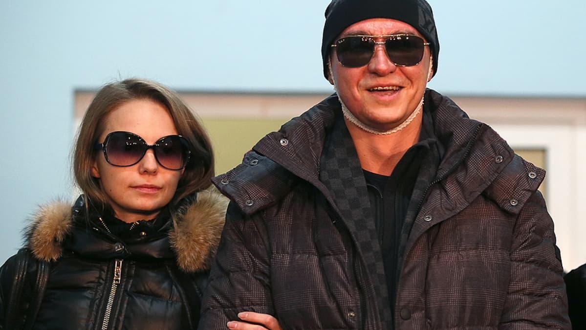 Bolshoi-baletin johtaja Sergei Filin ja hänen vaimonsa Maria Provich.