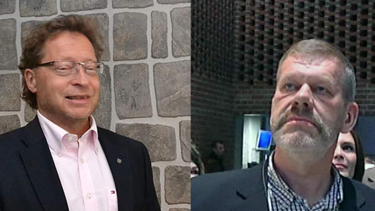 Kuvassa vasemmalta Juha Isosuo ja Kari Ilkkala (ps.)