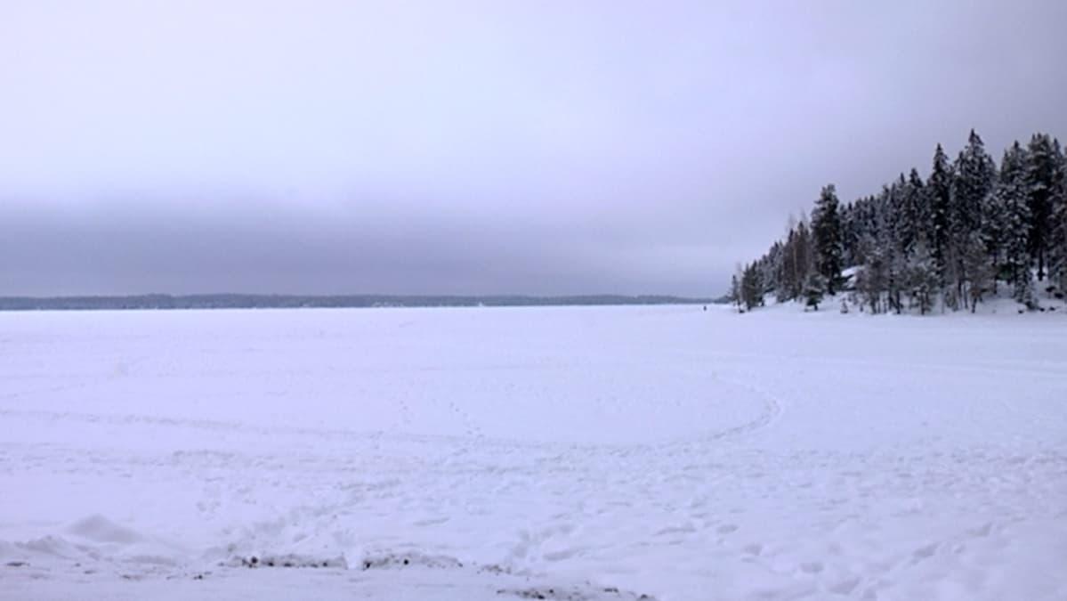 Näsijärvi jäänpeitossa