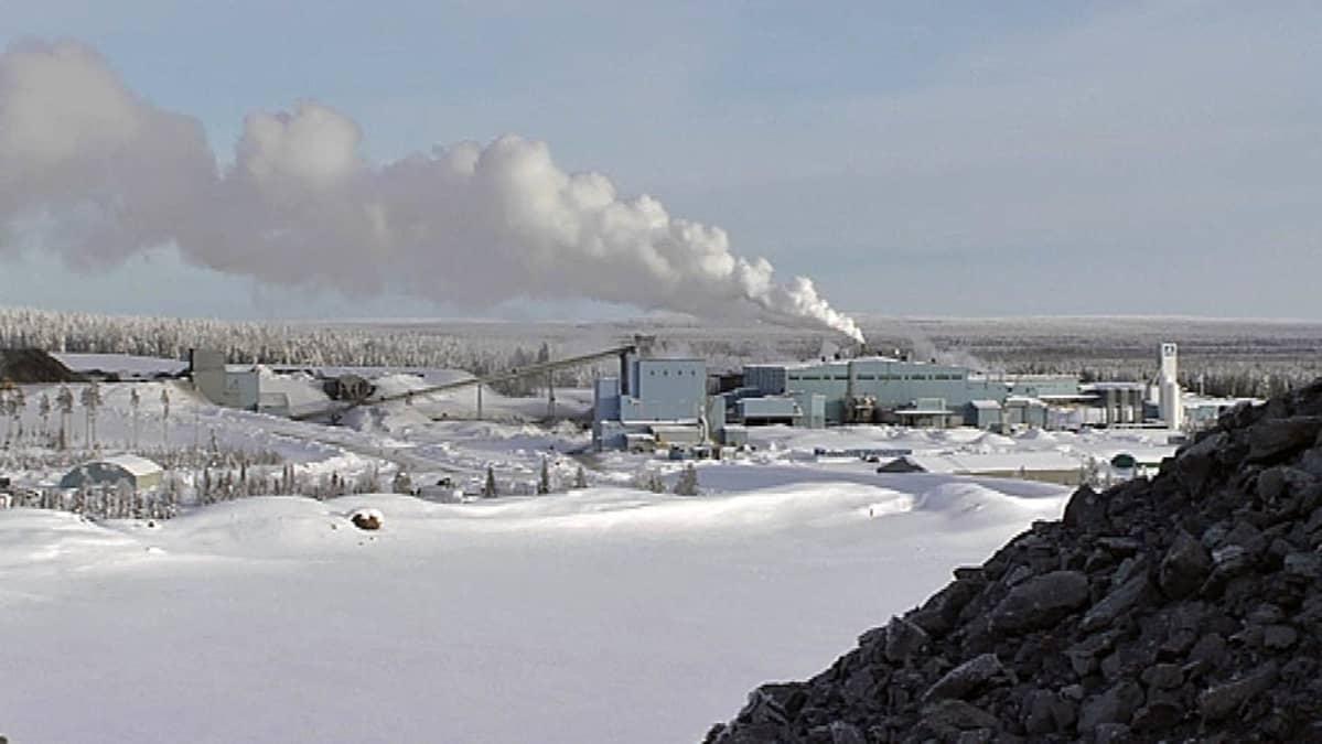Kittilän kultakaivos helmikuussa 2013.