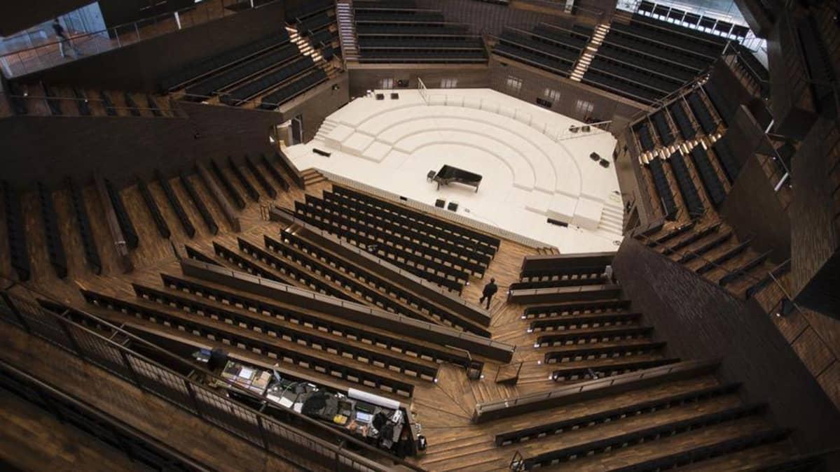 Musiikkitalon konserttisali.