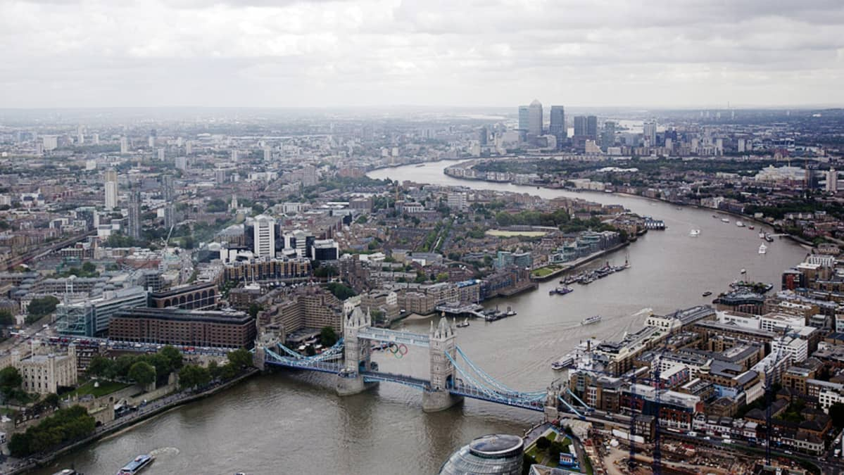 Lontoo ilmasta kuvattuna.