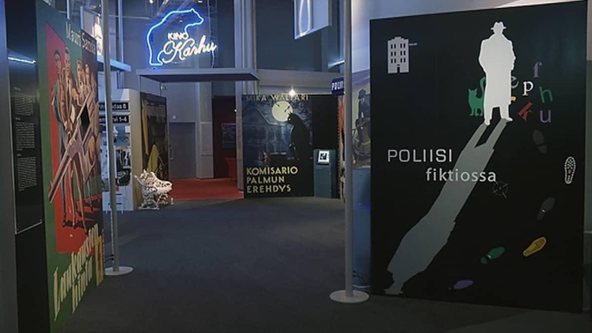 Poliisimuseon Poliisi filktiossa -näyttely