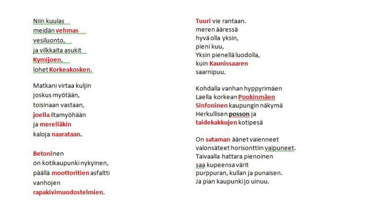 kauniita suomenkielisiä sanoja