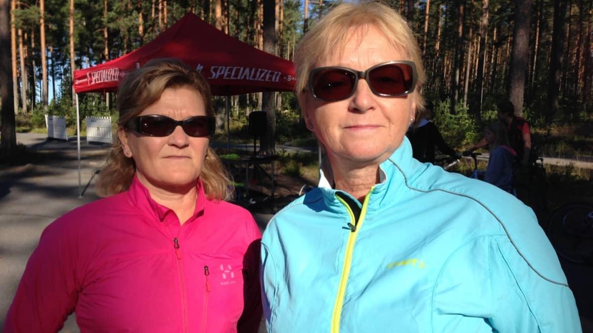 Arja Rissanen ja Kirsi Kettunen