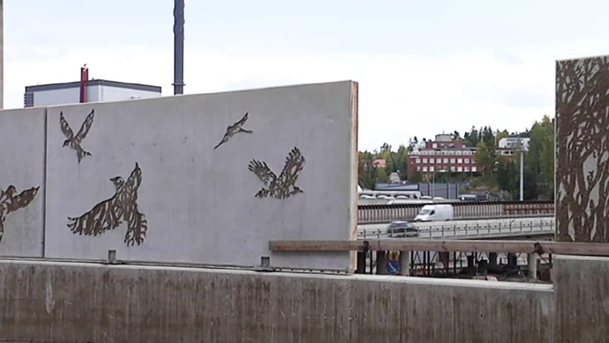 Taidetta nousee Rantatunnelin meluesteisiin Tampereella.