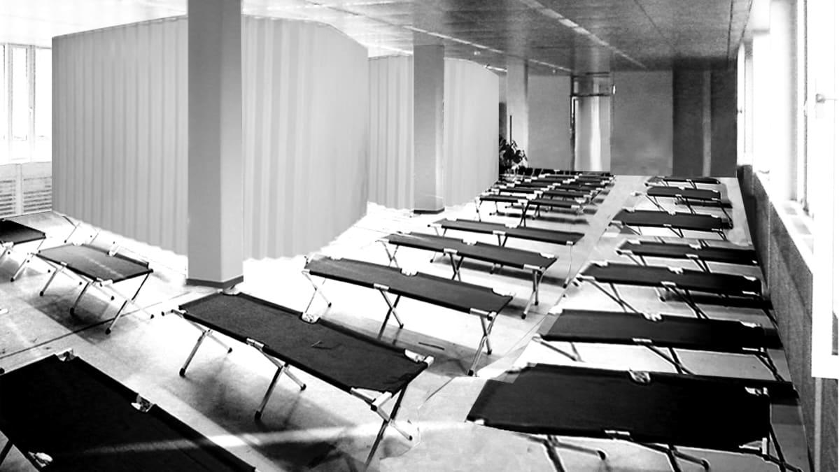 Saksalaisten arkkitehtien suunnitelmassa tyhjistä toimistoista muokataan turvapaikanhakijoiden majoitustiloja.