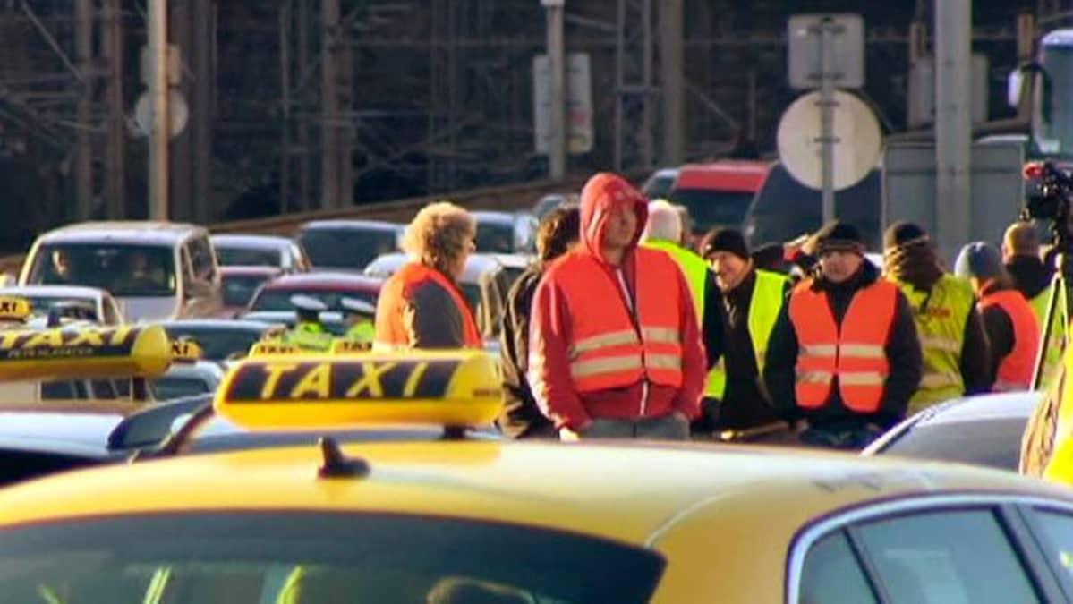 Taksiprotesti Tshekki.