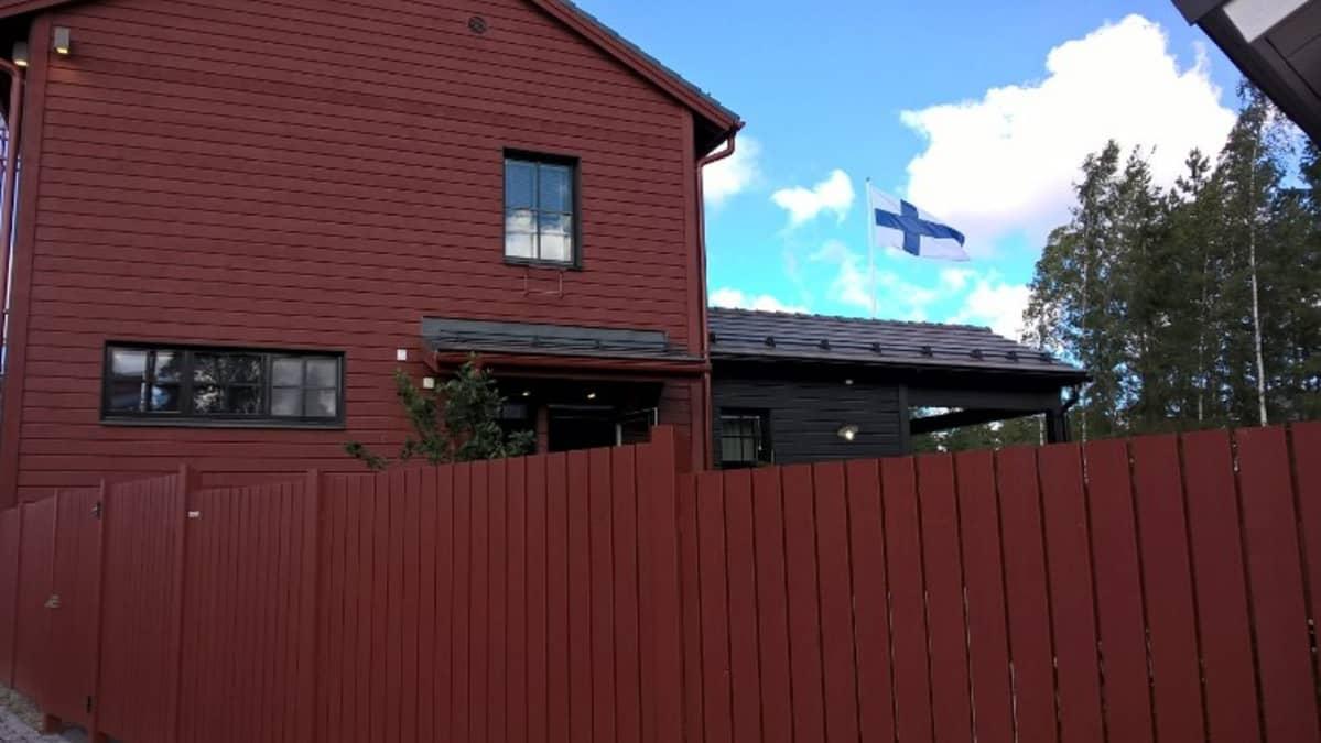 Pohjanmaa on yksi pohjalaistalokorttelin taloista Seinäjoen Asuntomessuilla.