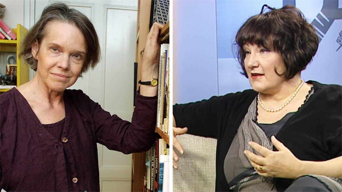 Merete Mazzarella ja Monika Fagerholm.