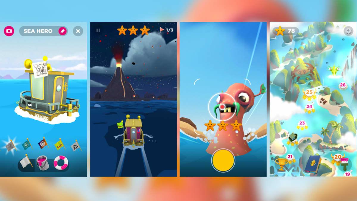 Sea Hero Quest -pelin näkymiä.