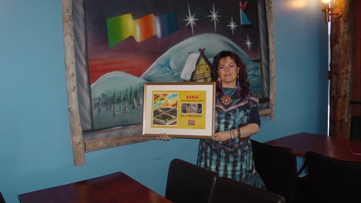 Ulla Pirttijärvi voitti Keksi-palkinnon.