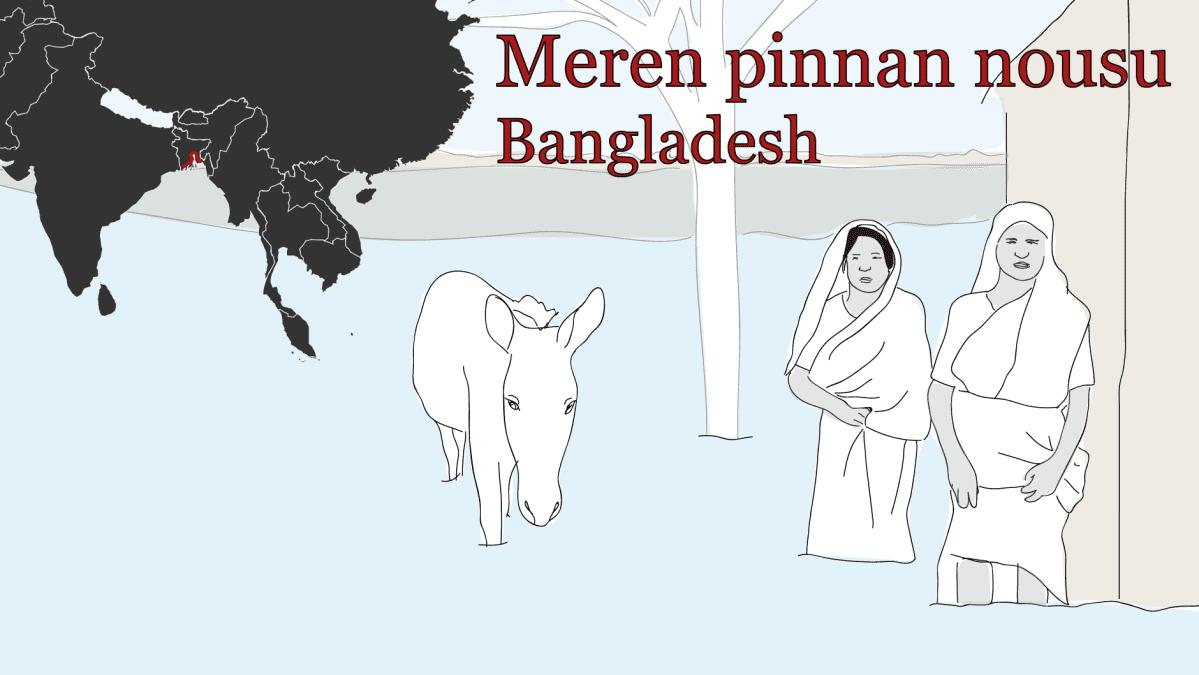 Ilmastopakolaiset Meren pinnan nousu Bangladesh