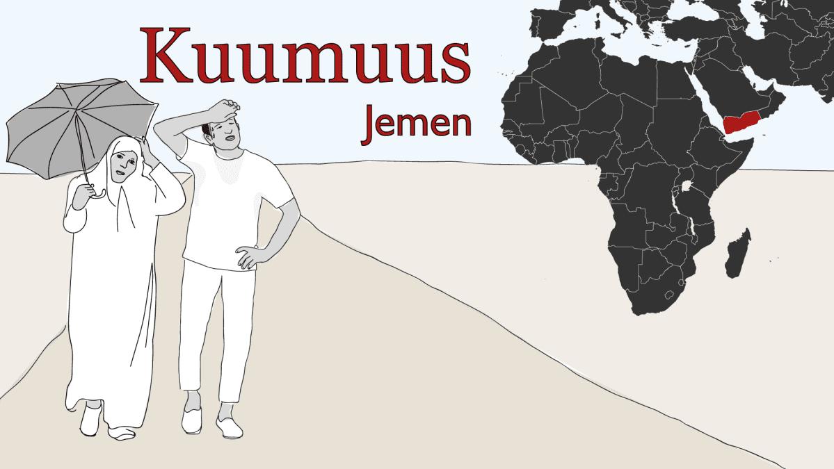 Ilmastopakolaiset kuumuus Jemen