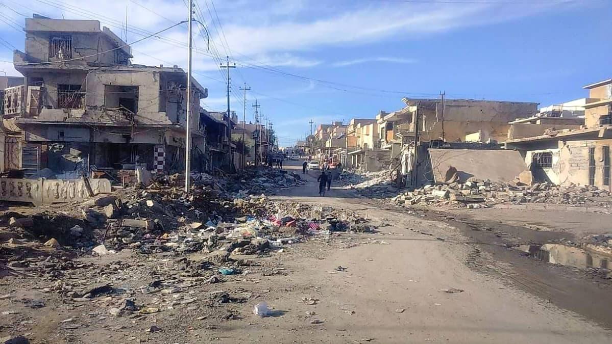 Saadin ystävän ottama kuva taisteluiden runtelemasta Mosulista.