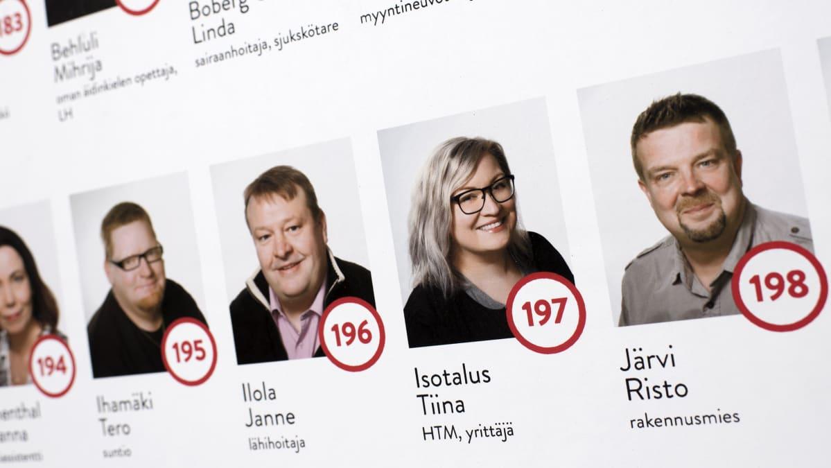 SDP:n ehdokaslistaa Kokkolassa.