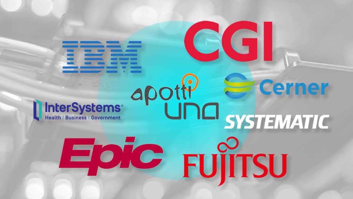 ICT-yritysten logoja.