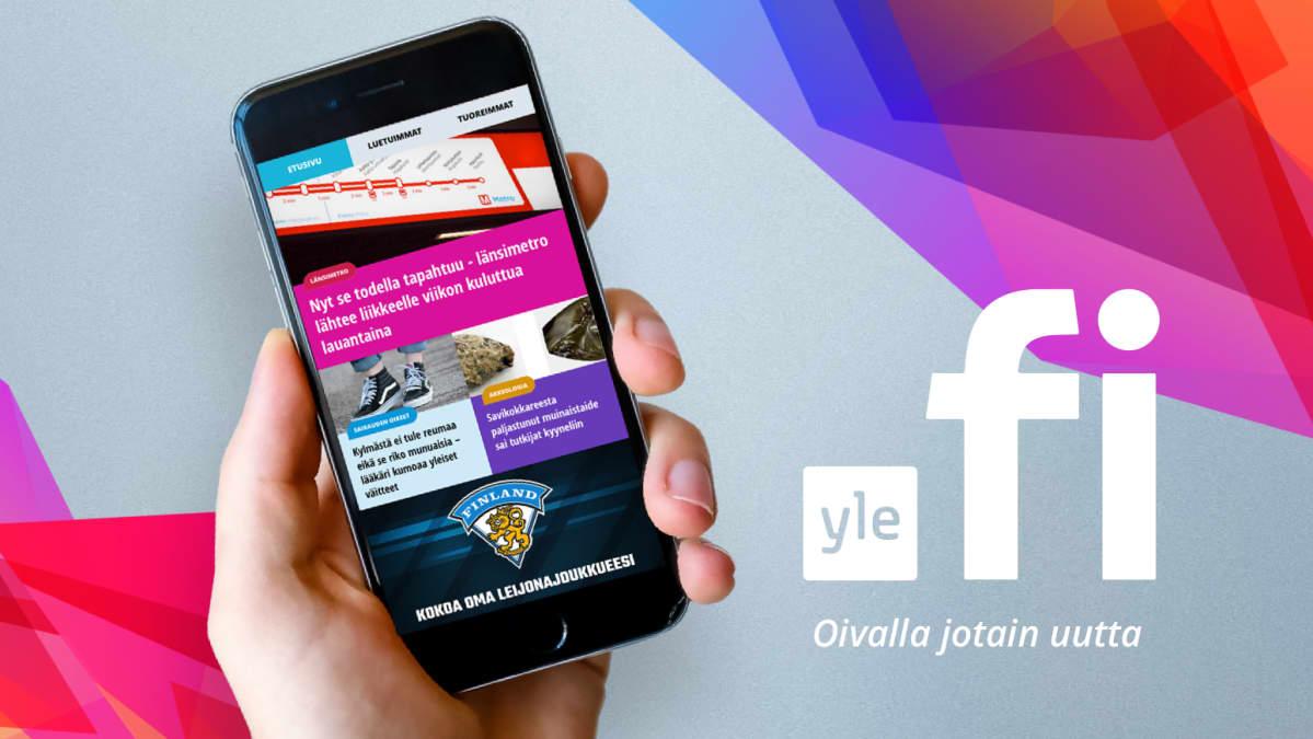 Kuva uudesta yle.fi-sovelluksesta puhelimessa.
