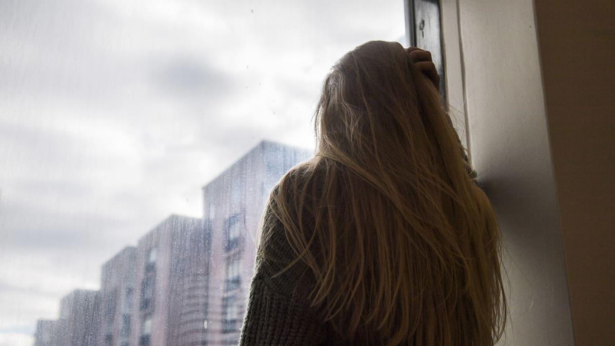 Kvinna med depression (illustration).