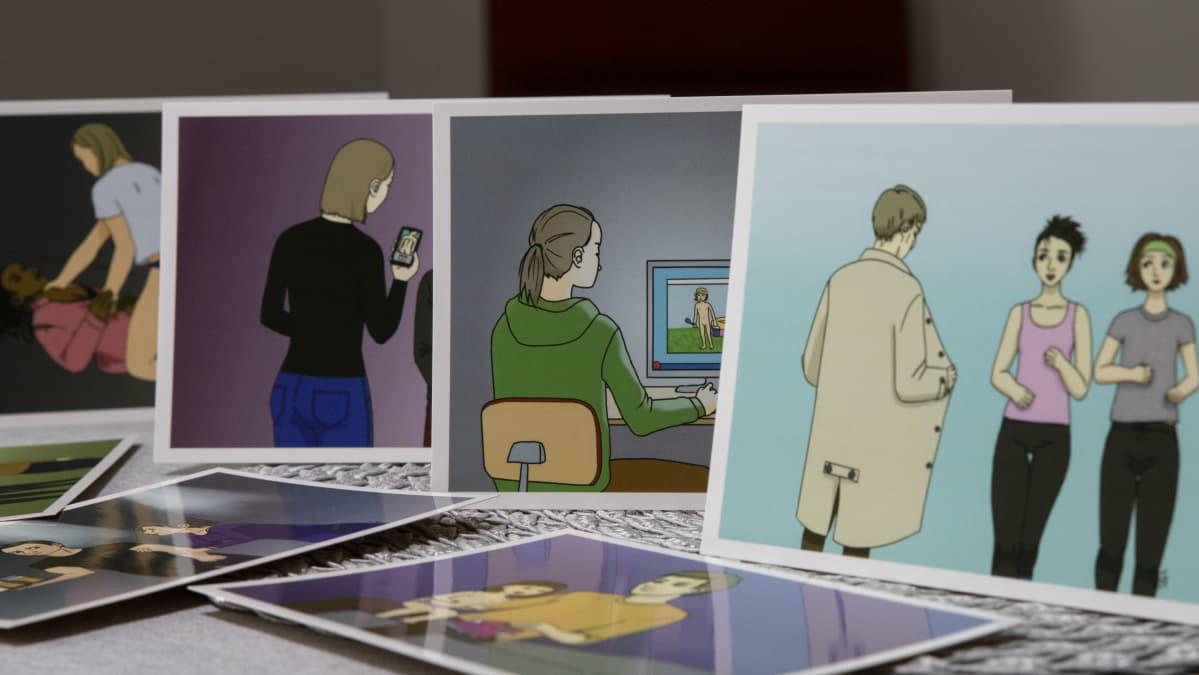 Seksuaalikasvatuksessa käytettyjä kortteja