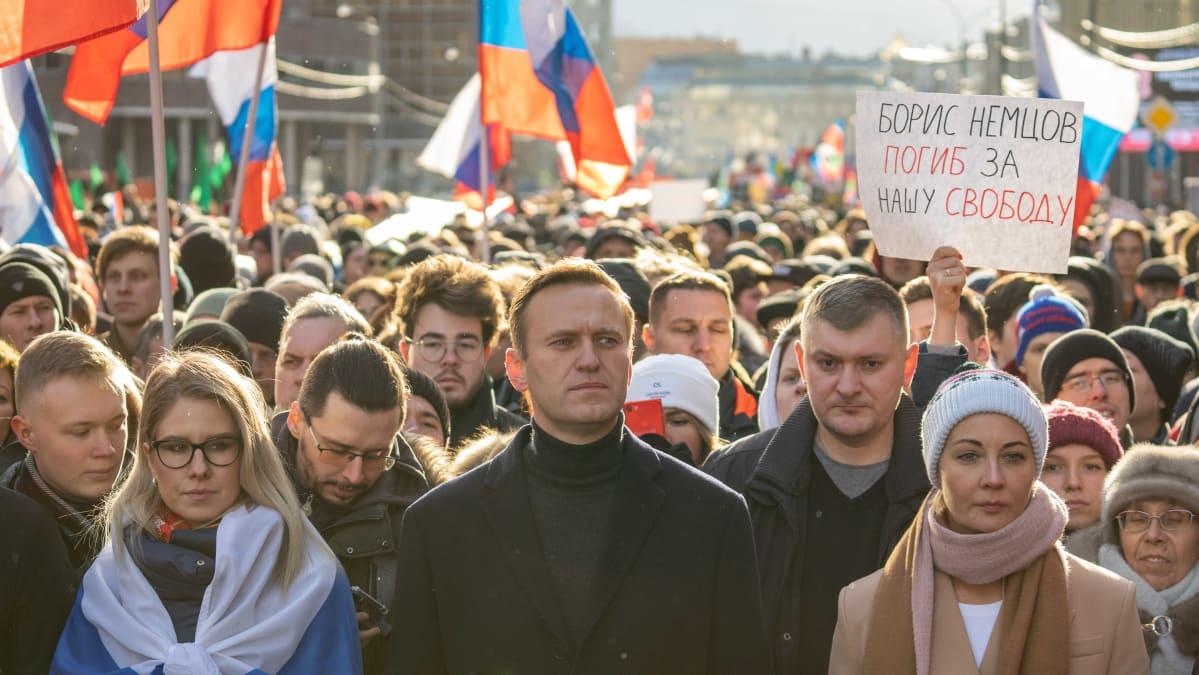 Aleksei Navalnyi, Ljubov Sobol, Julija Navalnaja.