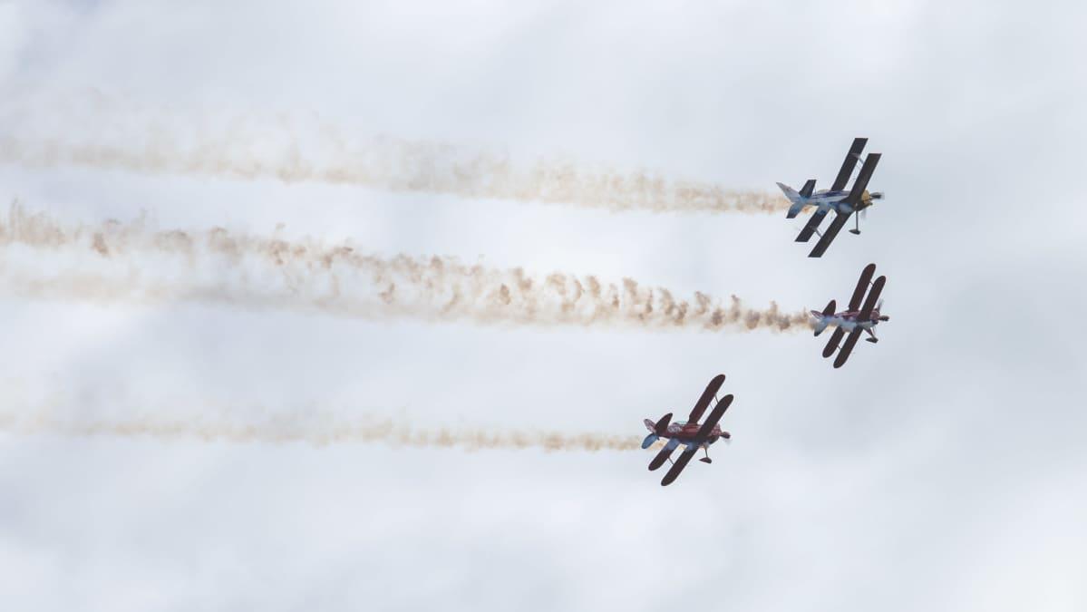 Arctic Eagles taitolentoryhmä Kauhava Airshowssa 29.8.20