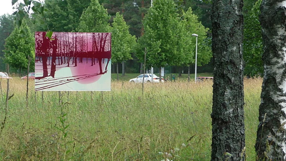 Kantri ja Urbaani -näyttelyn ulkoteos 2009