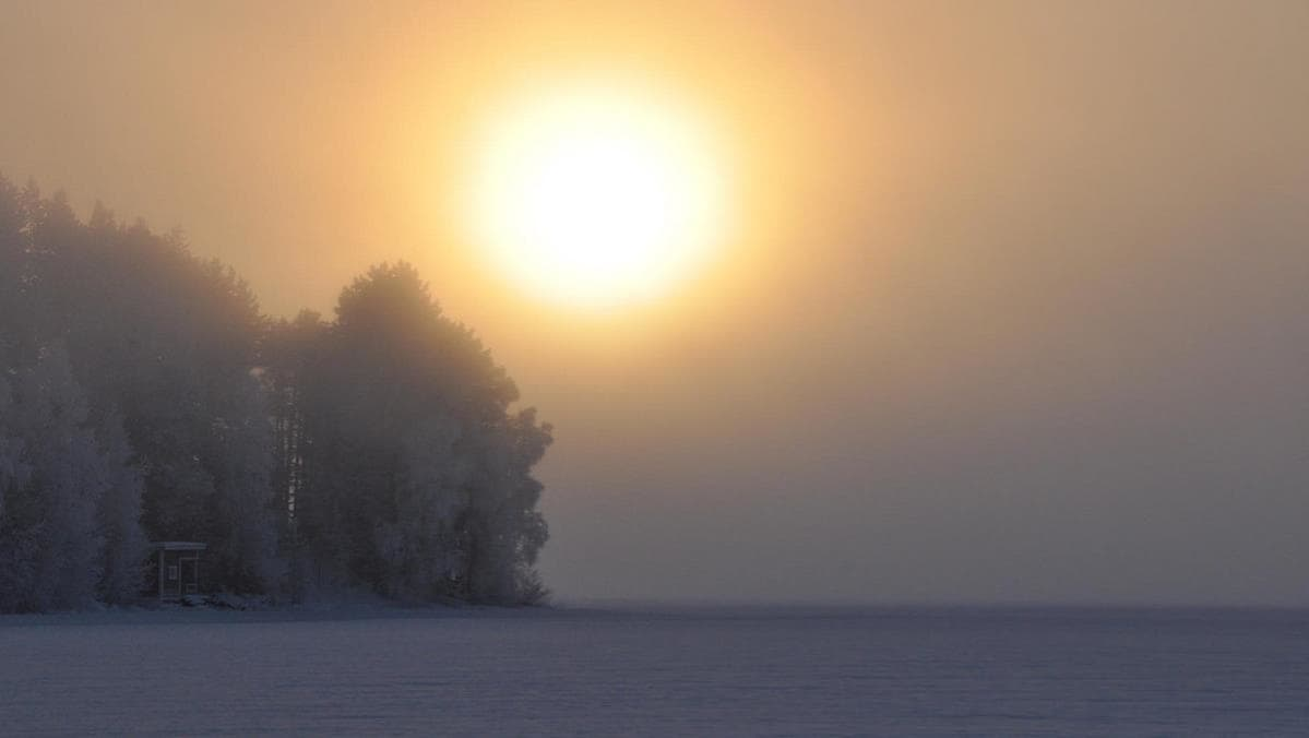 Oulujärvi tammikuussa