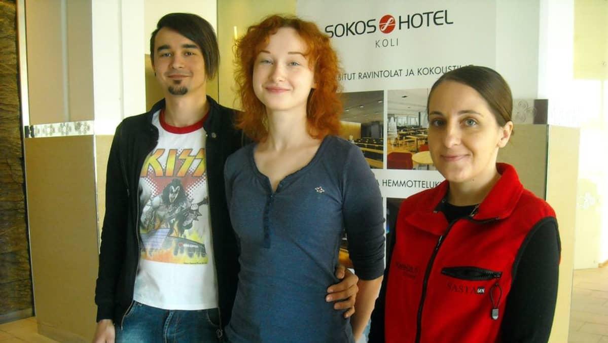 Venäläisiä matkailijoita Kimmelissä.