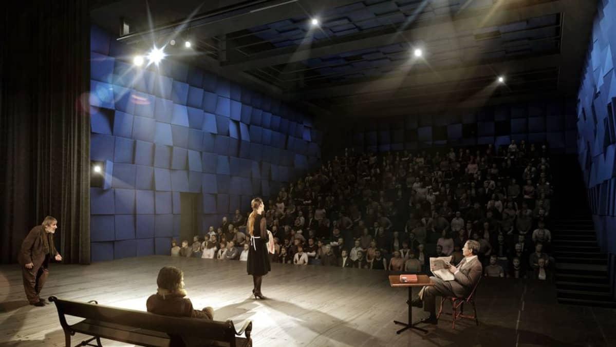 Havainnekuva Lappeenrannnan kaupunginteatterin suuresta salista