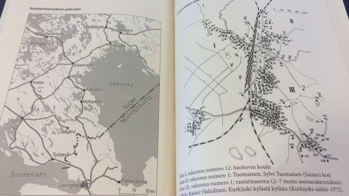 """Elisenvaara oli Karjalan kannaksen raideliikenteen kannalta keskeinen solmukohta. Kuva Erkki Rahkolan ja Carl-Fredrik Geustin vuonna 2008 julkaistusta kirjasta """"Vaiettu Elisenvaaran pommitus""""."""