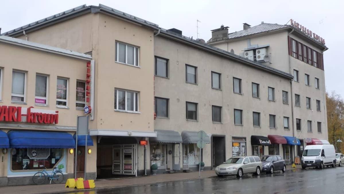 Karjalankulma Lappeenrannan Oksasenkadulla.